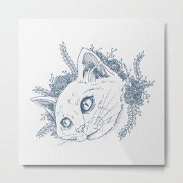 Whiskers Metal Print