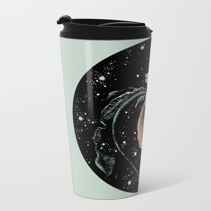 Warped Rose Metal Travel Mug