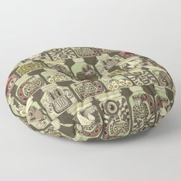 weird pickles vintage Floor Pillow