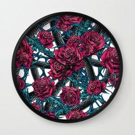 PENTAGRAM - RED ROSE Wall Clock