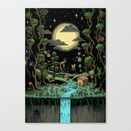 Magical Forest (in colour) Canvas Print