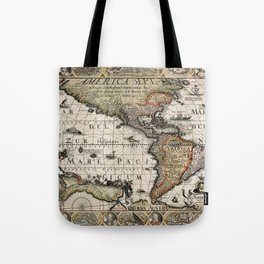 Map Of America 1614 Tote Bag