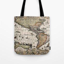 Map Of America 1614 Tote Bag