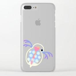 Daphnia - blue Clear iPhone Case