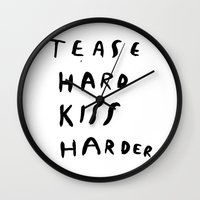 WORK HARD, PLAY HARDER Wall Clock