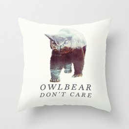 Owlbear (Typography) Throw Pillow