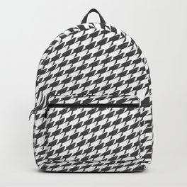 Sharkstooth Sharks Pattern Repeat in White and Grey Backpack