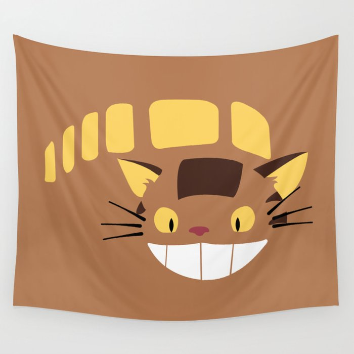 cute catbus wall tapestryminettewasserman | society6