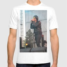 Julian Casablancas of The Strokes Mens Fitted Tee MEDIUM White