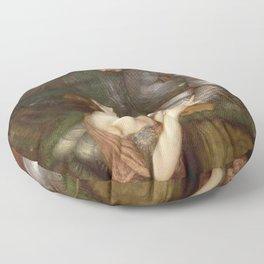John William Waterhouse - Lamia Floor Pillow