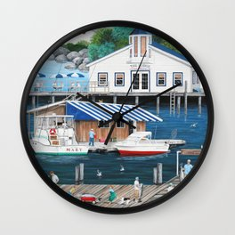 Laughing Gulls Landing Wall Clock