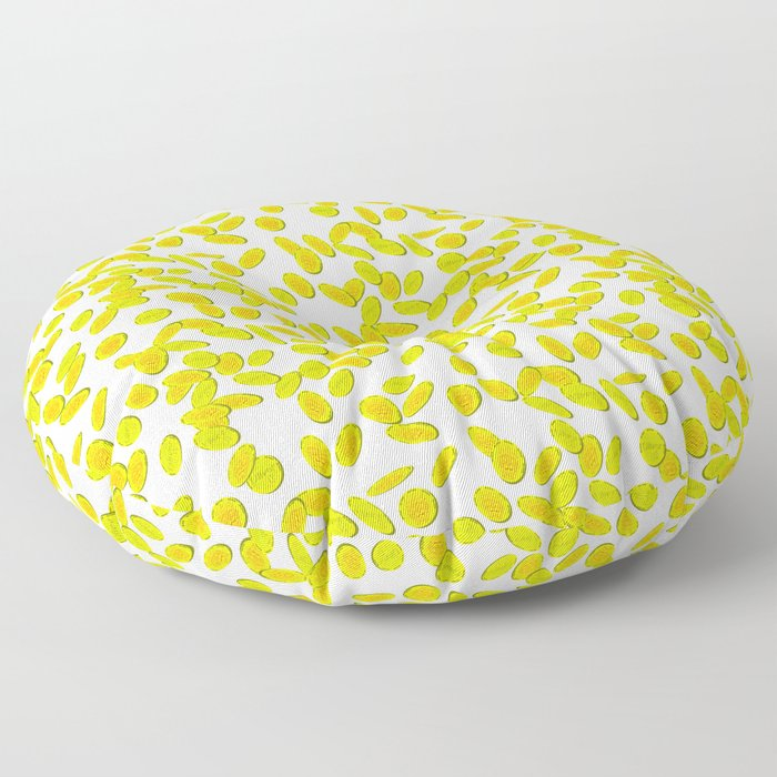 Oliver's Gold Coins Falling - Pattern Floor Pillow