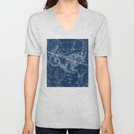 Capricorn sky star map Unisex V-Neck