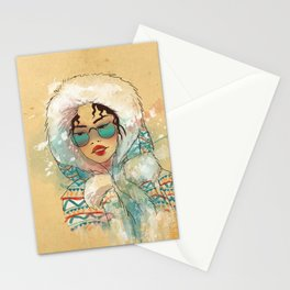 SNOW FASHION Stationery Cards