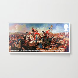 The Scots Greys during the charge of the Union Brigade Metal Print