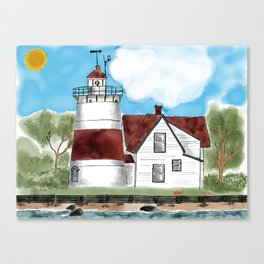 Sratford Point Lighthouse in CT Canvas Print