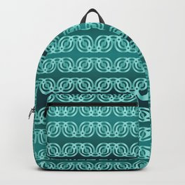 Chained Circles in Teal Backpack