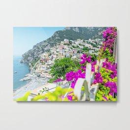 Positano, Amalfi Coast, Italy Metal Print