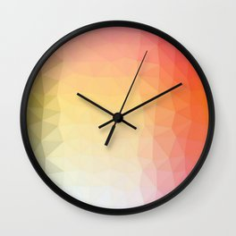 abstract pattern polygon Wall Clock