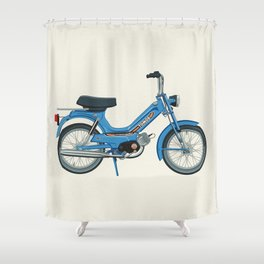 Motorbike Automatic 3 MS - Tomos Shower Curtain