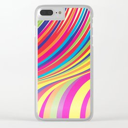 Crazy Fantasy Colorful Stripes Clear iPhone Case