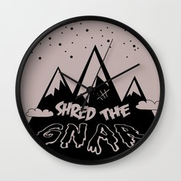 Shred the Gnar Wall Clock