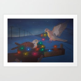 Gettin' Lit for the Holidays Art Print