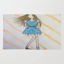 Girl with the Blue Dress Rug