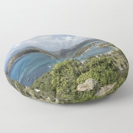 English Harbor as Seen from Shirley Heights - Antigua Floor Pillow