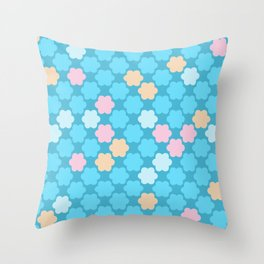 Sky blue . Throw Pillow
