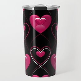 Ornament of Hearts Travel Mug