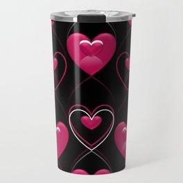 Ornament of Hearts Travel Mug