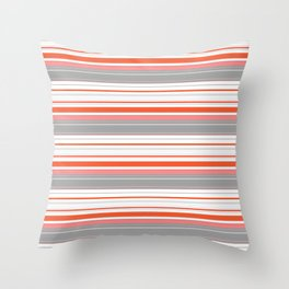 Orange Butterfly Coordinating Stripe Throw Pillow