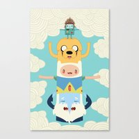 adventure Canvas Prints featuring Adventure Totem by Daniel Mackey