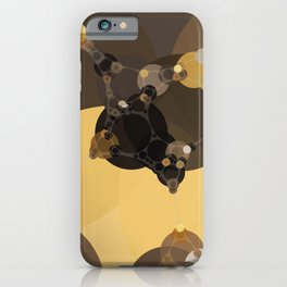 halsey - abstract warm earth tones brown butter yellow tan and black iPhone Case