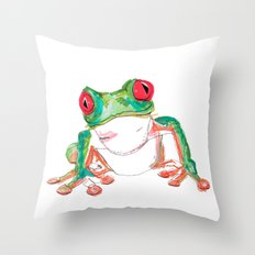 Froglet Throw Pillow