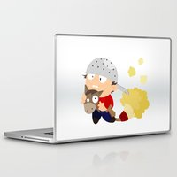 knight Laptop & iPad Skins featuring knight by Alapapaju