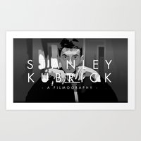 kubrick Art Prints featuring Opening Kubrick by Martin Woutisseth