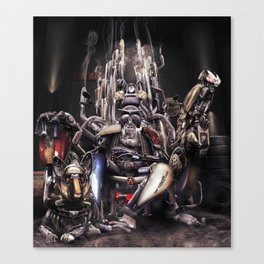 The God of Motorcycling Canvas Print