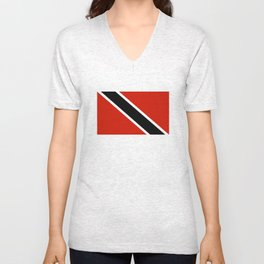 Trinidad and Tobago country flag Unisex V-Neck