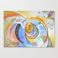 trip Canvas Prints featuring trip by Meld & Heal