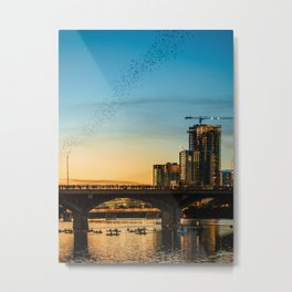 Congress Avenue Bridge Bat Watching Metal Print