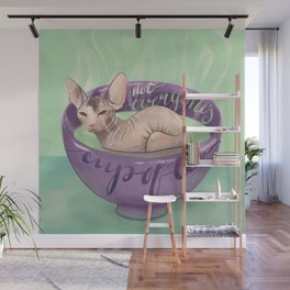 Not Everyone's Cup Of Tea - Sphynx Cat - Part 4 Wall Mural