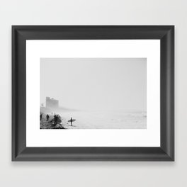 San Diego Surf Beach Framed Art Print