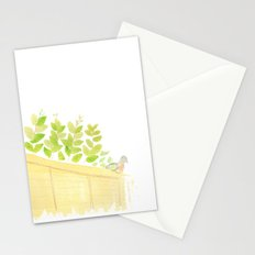 Pigeon in garden Stationery Cards