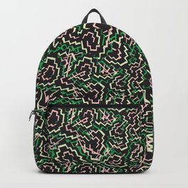 Zig Zag Abstract Geometric Pattern Backpack
