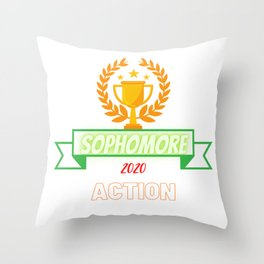 Sophomore 2020 action students Throw Pillow