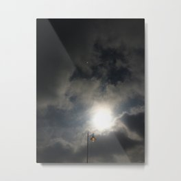 Lamp Lit In the Face of the Sun Metal Print