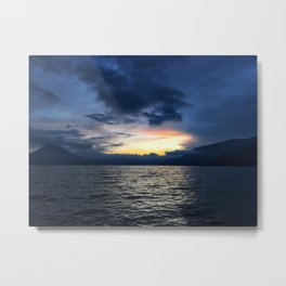 Sunsets in Lago Atitlan Metal Print