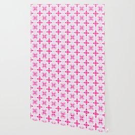 Pink Floral Tiles Wallpaper